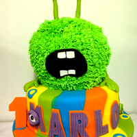 Monster Cake Friendy and Colourful Monster Cake.A mix of premium fondant and buttercream.