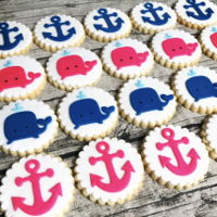 Nautical Theme ~ 1St Birthday Cookies Sugar cookies n fondant decoration