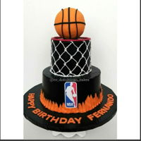 Nba Cake Vanilla cake with Buttercream frosting