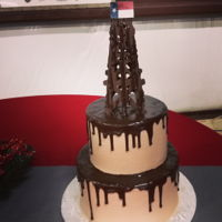 Oil Rig Groom's Cake This #oilrigcake with its #chocolatedrip smelled soooooo good! Great choice by this groom! #groomscake #biscuieaterbakery #bakingislove #...