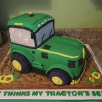 Pete's She Thinks My Tractor's Sexy Groom's Cake I made this for my niece's groom on their wedding day. I listen to Kenny Chesney quite a bit this week. :) The wheels were made of...