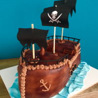 Pirate Ship It's been a while since I posted my last photo. Hope you like this pirate ship I made for a little boy...