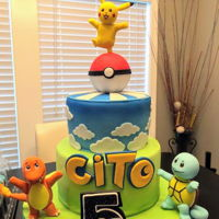 Pokemon Go Cake Fondant and gumpaste.
