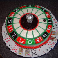 Roulette Wheel Birthday cake