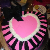 Sexy Pink And Black Heart omg, unfortunately this is the only pic i have...it doesnt' do the cake justice!! the colors were so vibrante!!!