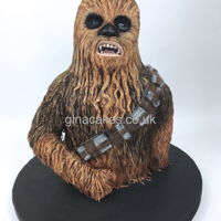 Star Wars 3D Chewbacca Cake Star Wars 3d Chewbacca cake , my entry at cake international 2018 Birmingham England, Chewy managed to get a Silver award.