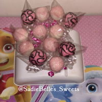 Sweet 16 Cake Pops Pink, white and black cake pops