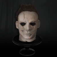 ...the Blackest Eyes... The Devil's Eyes sculpted Michael Myers head in modelling chocolate
