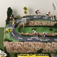 Tour De France I made this birthday cake for a client who likes to bike.