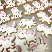 Unicorn Cookies Sugar cookies n fondant decoration