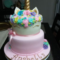 Unicorn Pastel Cake Fondant and gumpaste