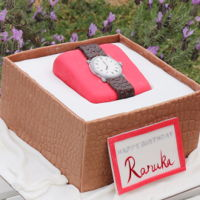 Wrist Watch In A Box Cake How to make watch cake video.