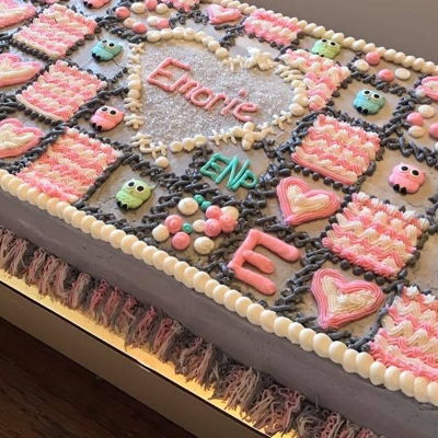 Baby Shower Quilt Cake