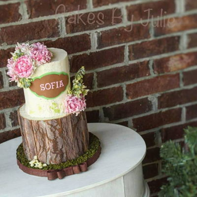 Baby Shower Rustic Cake