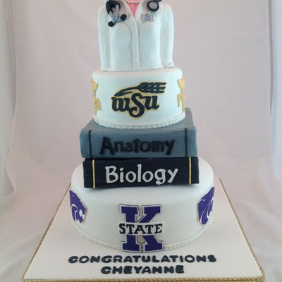 College Physician Assistant Graduation Cake