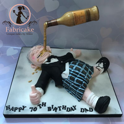 Drunk Scottish Man Cake
