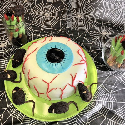 Eyeball Cake, Mice And Witch Fingers