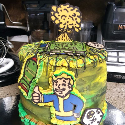 Fallout Game Cake