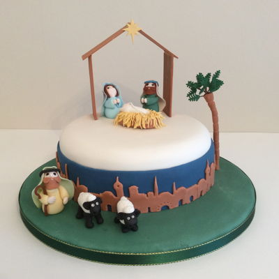 Nativity Scene Christmas Cake