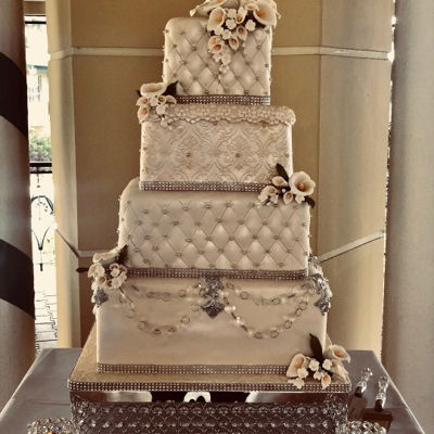 Square Sequined Tiers