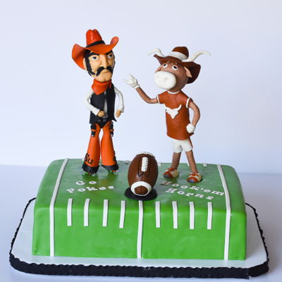 Texas/osu Football Cake