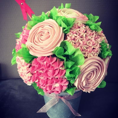 Think Pink Bouquet Cupcakes!