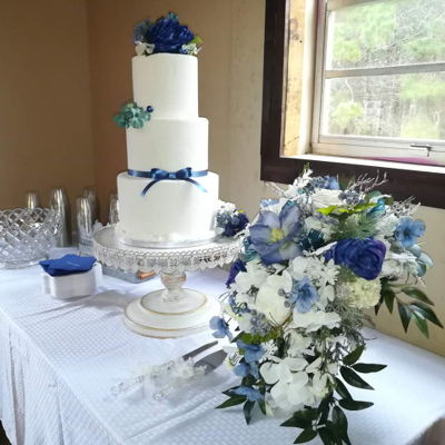 Winter Wedding Bride's Cake on Cake Central