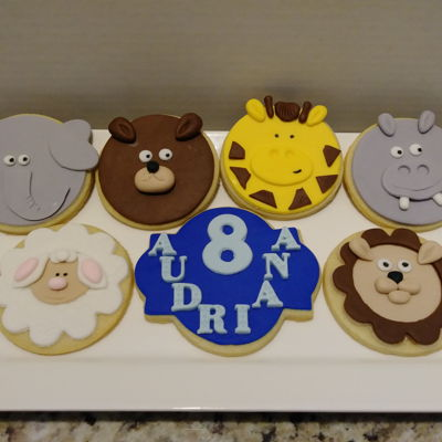 Zoo Birthday Cookies