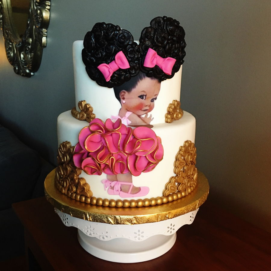 Afro Puff Baby Cake on Cake Central