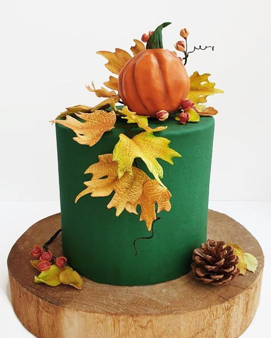 Autumn Cake on Cake Central