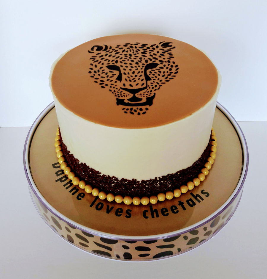 Terrific Cheetah Cake Cakecentral Com Personalised Birthday Cards Petedlily Jamesorg