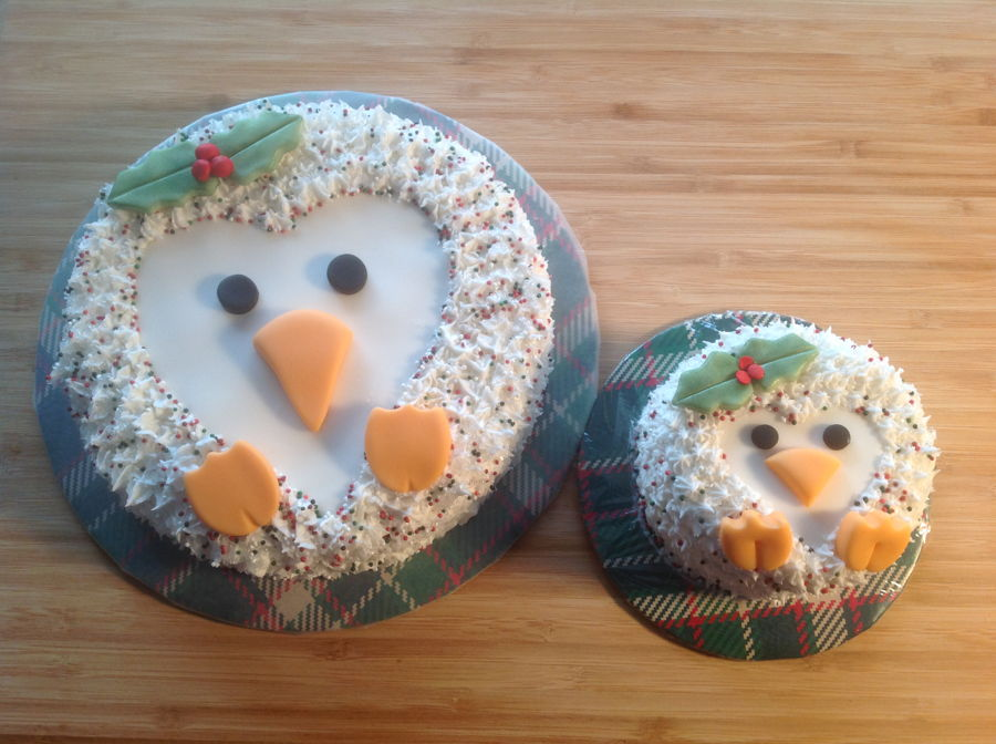 Christmas Penguins on Cake Central
