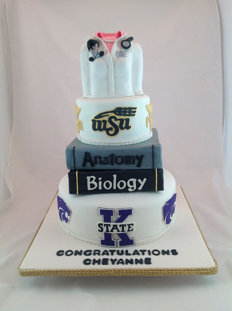 College Physician Assistant Graduation Cake on Cake Central