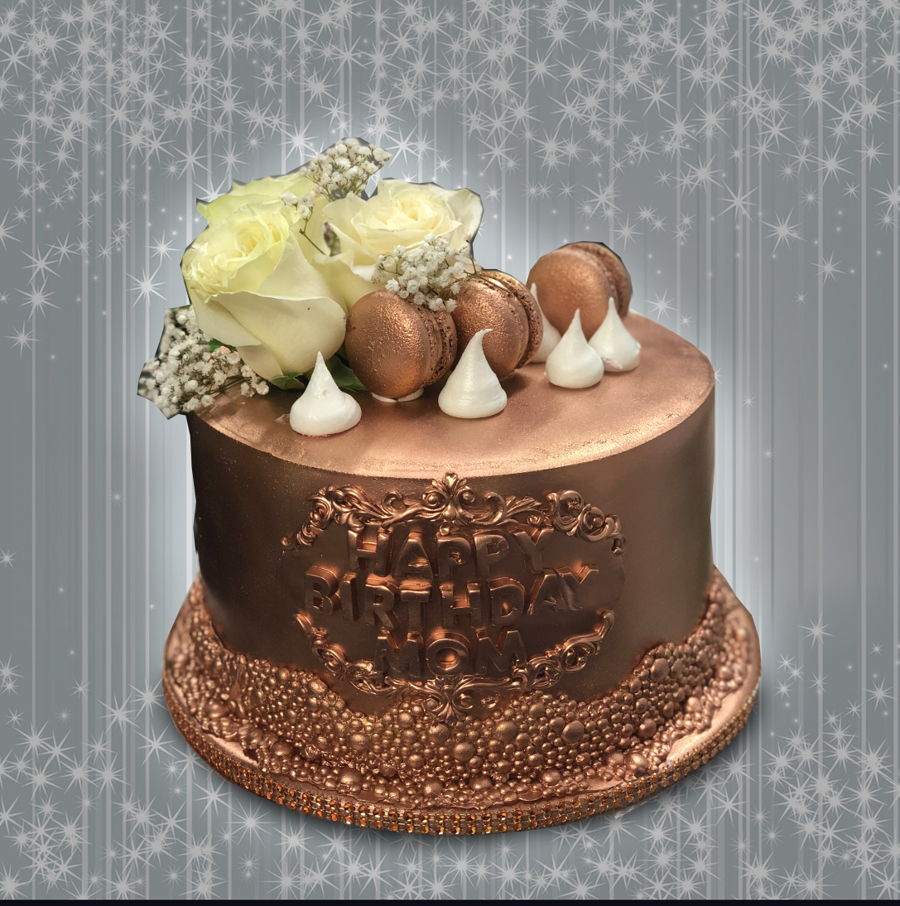 Copper Tone Cake on Cake Central