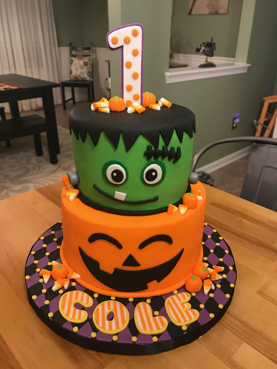 First Birthday Halloween Cake on Cake Central