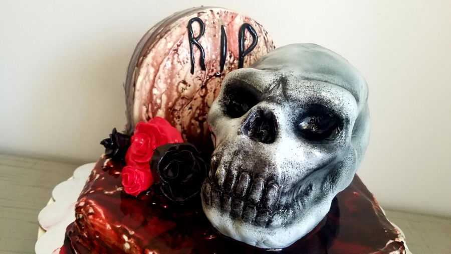 Halloween Skull Cake on Cake Central
