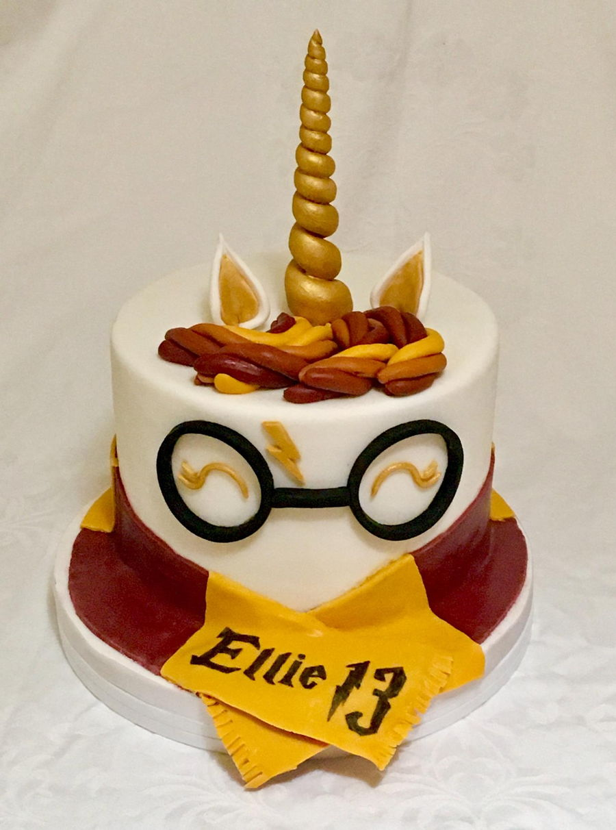 Harry Potter Unicorn Cake on Cake Central