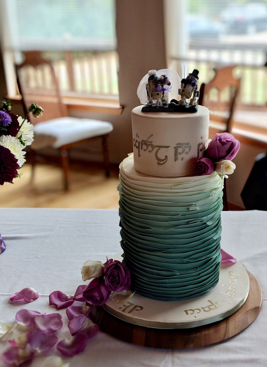 Lord Of The Rings And Star Wars Wedding Cake - CakeCentral.com