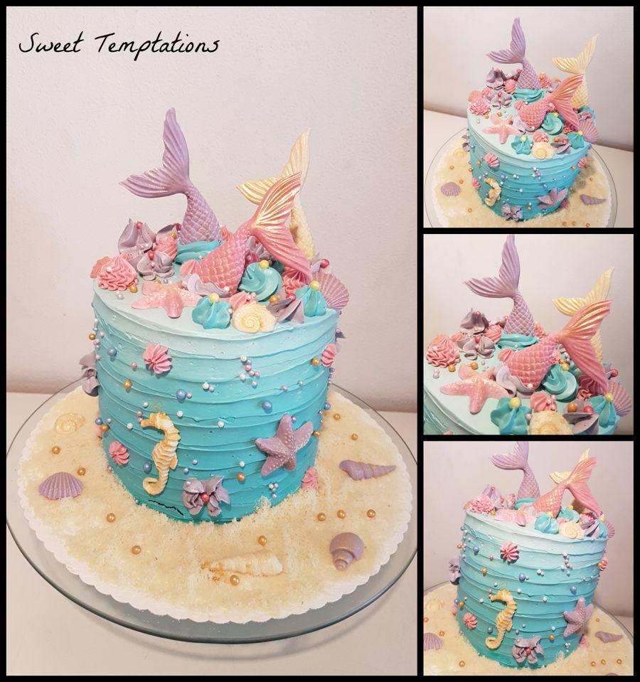 Mermaid Cake - CakeCentral.com