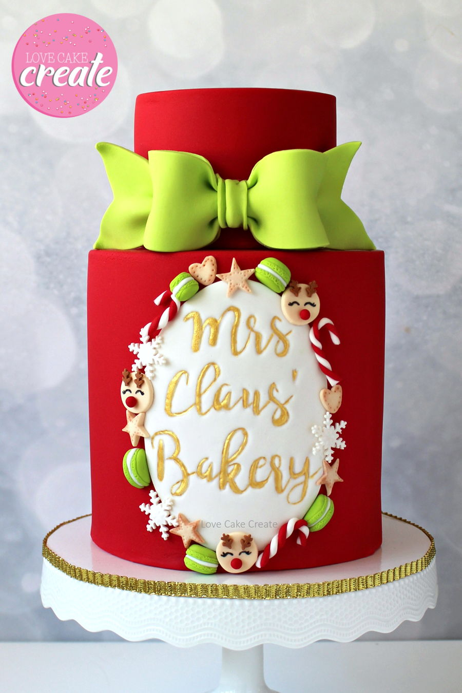 Mrs Claus' Bakery Cake Tutorial on Cake Central