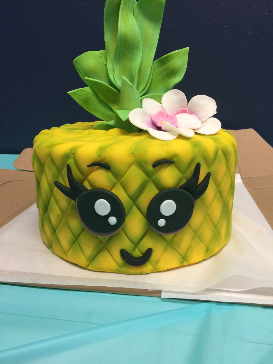 Cool Pineapple Birthday Cake Cakecentral Com Personalised Birthday Cards Akebfashionlily Jamesorg