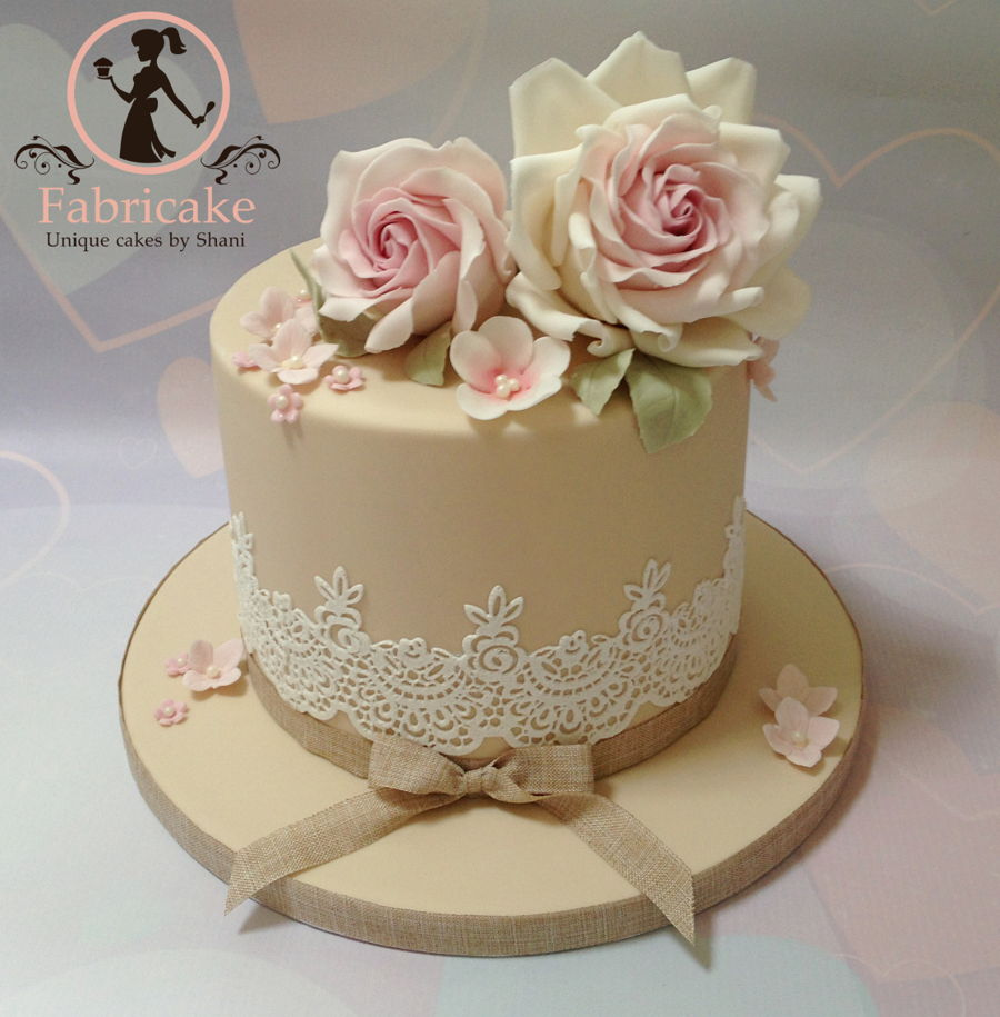 Pretty Little Flower Birthday Cake on Cake Central