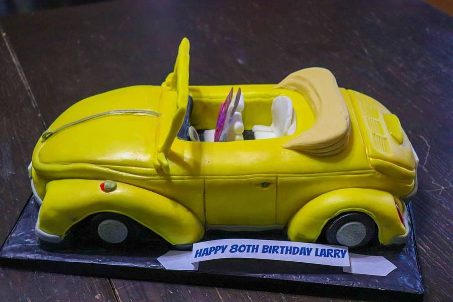 Vintage Volkswagen Beetle Convertible on Cake Central