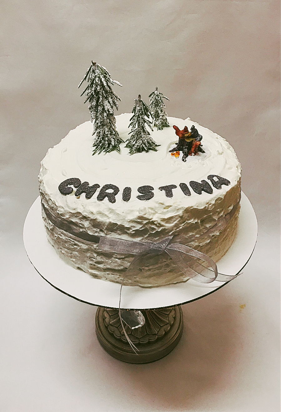 White Christmas Cake on Cake Central