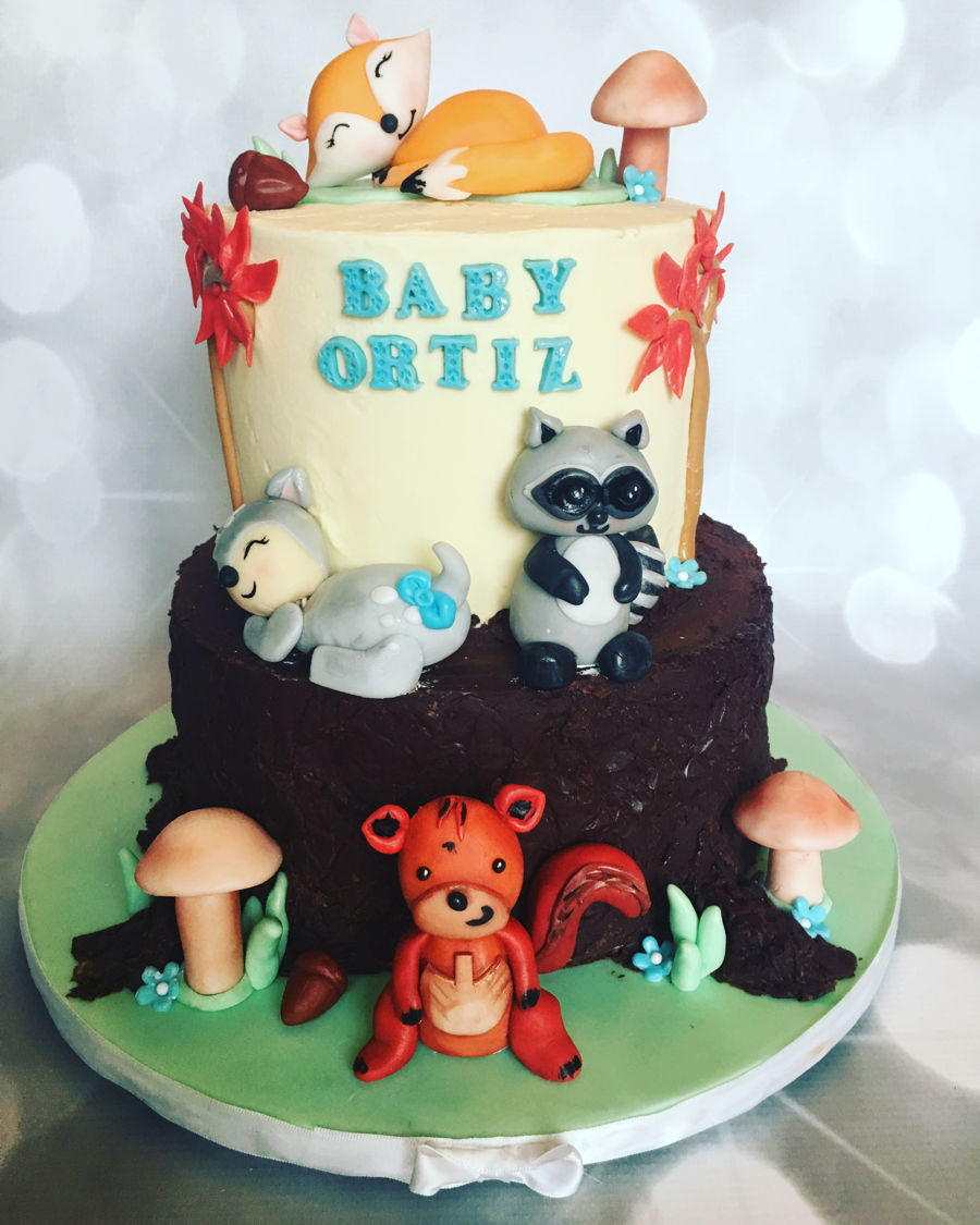 Woodland Animals Baby Shower Cake on Cake Central