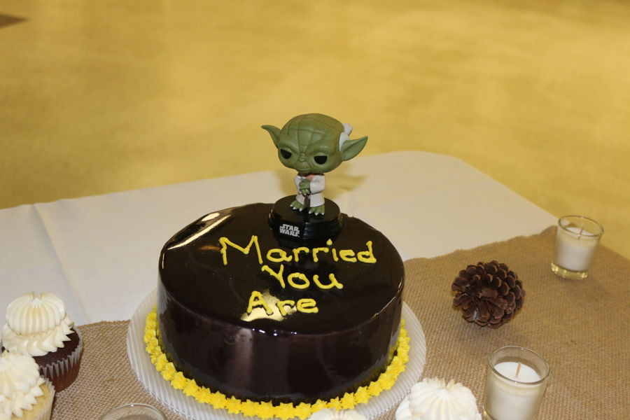 Yoda Grooms Cake on Cake Central
