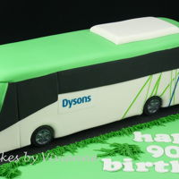 Bus Cake Chocolate mud cake with fondant and edible images. Bus was approximately 34 cm long, 10 cm high and 10cm wide
