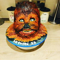 Chewbacca Cake Very nervous making this cake as it was a first for me to Carve, sculpt and airbrush a cake, I'm not a 100% happy with it as I...