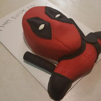 Deadpool Cake I made this Deadpool cake for my husband's birthday this year. Inspired by Zoe's Fancy Cakes