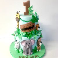"Jungle Safari 1St Birthday 8""+6"" all animals hand cut"